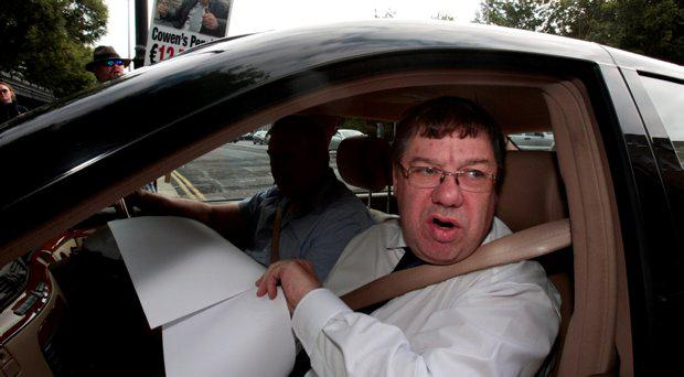 Former Taoiseach Brian Cowen arriving for the Oireachtas Banking Inquiry at Leinster House
