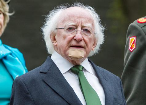 President Michael D Higgins, and Taoiseach Enda Kenny, led the tributes at the annual National Day of Commemoration in Dublin this morning.