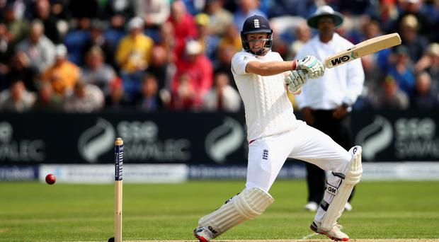 England's Joe Root of England bats during day one of the Ashes Test in Cardiff
