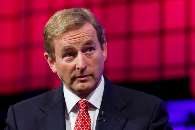DUBLIN, IRELAND - NOVEMBER 04: Taoiseach Edna Kenny talks at the Web Summit Centre Stage at the 2014 Web Summit on November 4, 2014 in Dublin, Ireland. (Photo by Tristan Fewings/Getty Images)