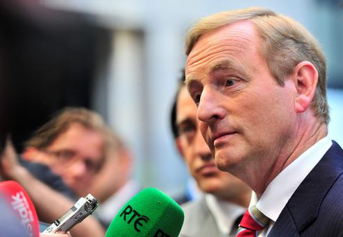 Taoiseach Enda Kenny: election hopes dealt blow