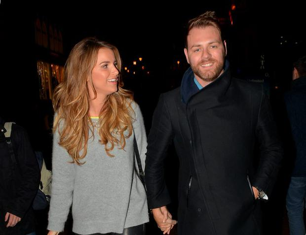 Celebrity couple Brian McFadden & wife Vogue Williams McFadden in 2013