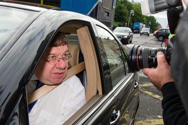 Former Taoiseach Brian Cowen pictured arriving to the Bank inquiry in Leinster House Dublin
