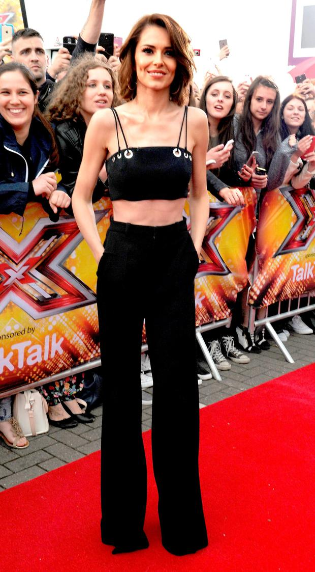 Cheryl Fernandez-Versini attends the first auditions for The X Factor 2015 on July 8, 2015 at Event City in Manchester, England.