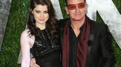 Eve Hewson and dad Bono at the 2013 Vanity Fair Oscars party