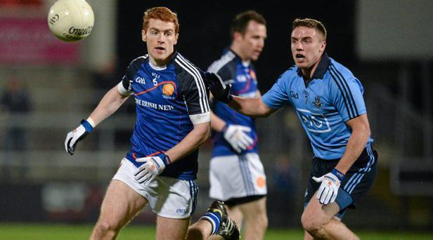 Davey Byrne (right) in action for Dublin