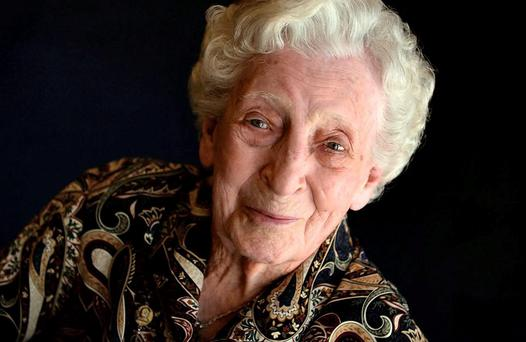Kathleen Snavely: the longest living Irish person, she left from Cobh in 1921, and made her fortune in the United States