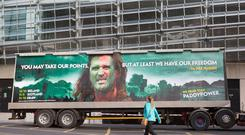 The Paddy Power Braveheart poster featuring Roy Keane's image