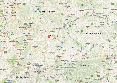 Ansbach district is located to the south-west of Nuremberg (Photo: Google Maps)
