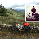 Mark Graham (inset) and a photo he took along the second week of his Wild Atlantic Way cycle