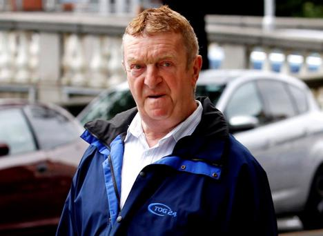 Martin O'Donnell of Glengarriff Parade, Off North Circular Road, Phibsboro, Dublin leaving court after the hearing. (Pic: Courtpix)