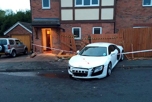 Damage caused to the home of Janet and Harold Perry in Suton Coldfield