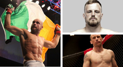 Cathal Pendred (left), Gunni Nelson (top right) and Neil Seery (bottom right) will all be in action at the MGM Grand
