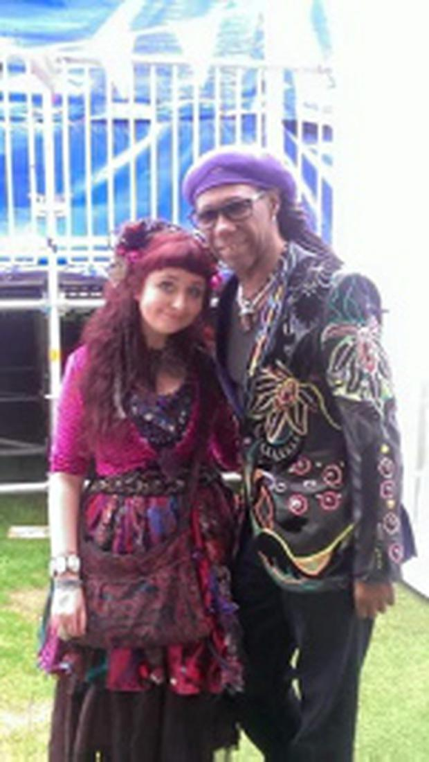 Claire Garvey and Nile Rodgers