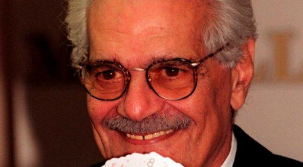 File photo dated 20/01/99 of bridge-playing film star Omar Sharif,