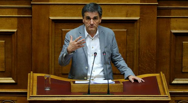 Greek Finance Minister Euclid Tsakalotos attends a parliamentary session in Athens, Greece. Photo: REUTERS/Alkis Konstantinidis