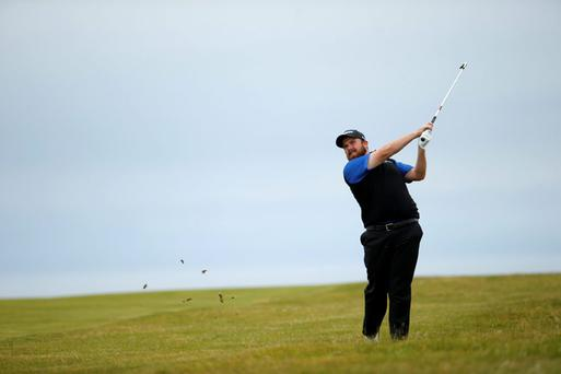 Shane Lowry of Ireland during the second round