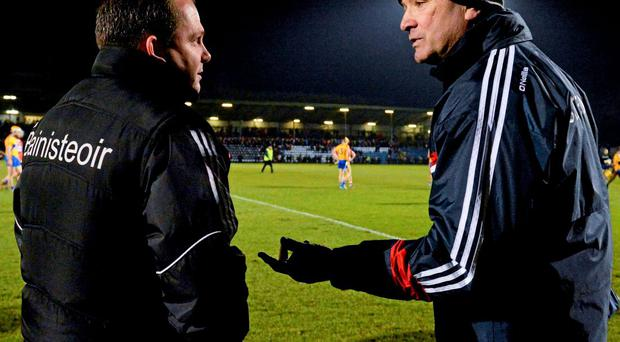 Davy Fitzgerald and Jimmy Barry-Murphy are polar opposites on the sideline SPORTSFILE