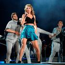 Singer Taylor Swift performs during her