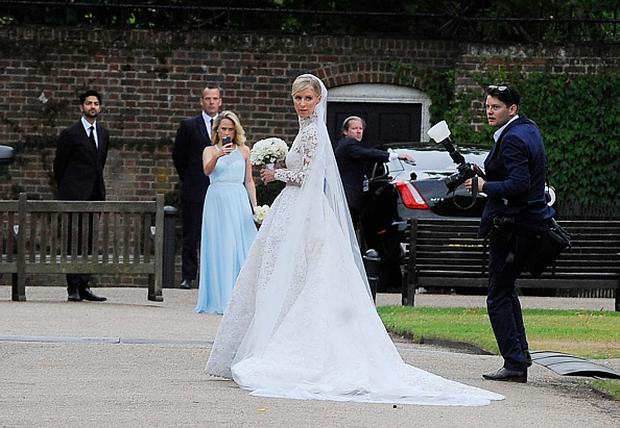 Nicky Hilton poses for photos during her Wedding Reception on July 10, 2015 in London, England. (Photo by Keith Hewitt/GC Images)