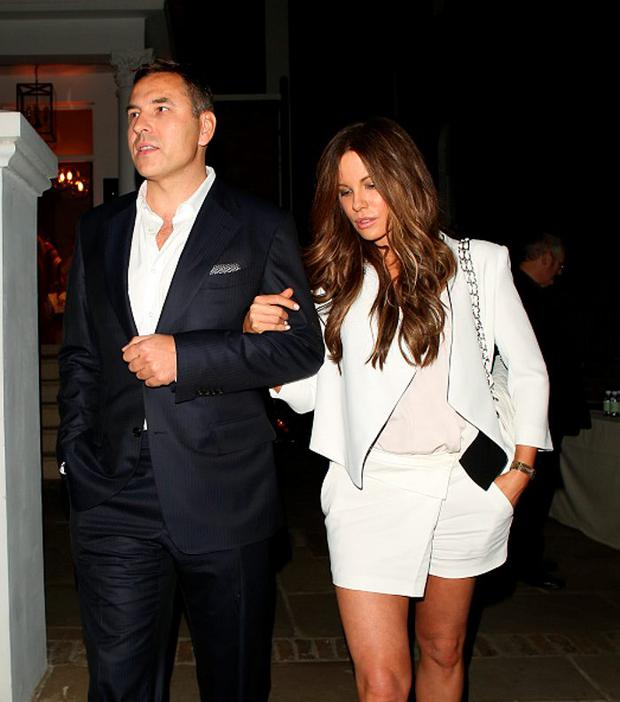 LONDON, ENGLAND - JULY 09: David Walliams and Kate Beckinsale attending the ITV summer party in Notting Hill on July 9, 2015 in London, England. (Photo by Mark Robert Milan/GC Images)