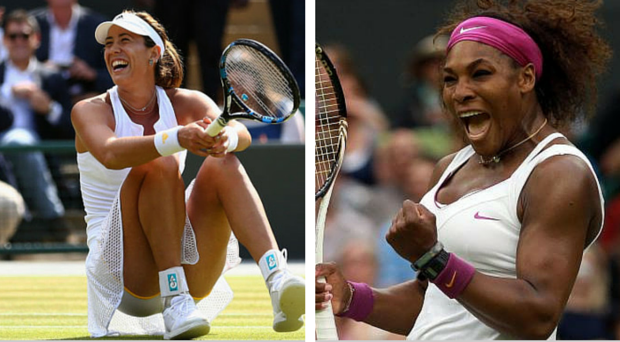 Garbine Muguruza and Serena Williams will do battle on centre court today