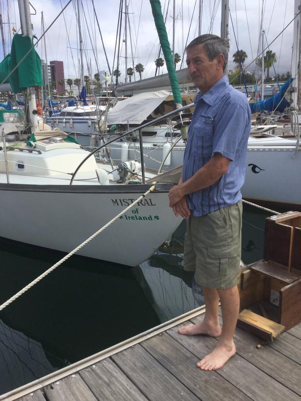 Kenny Coalter with his yacht