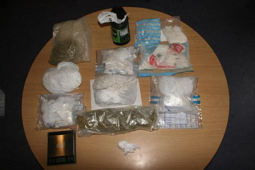 Part of the drug seizure