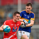 Declan Byrne, Louth, in action against Liam Casey, Tipperary.