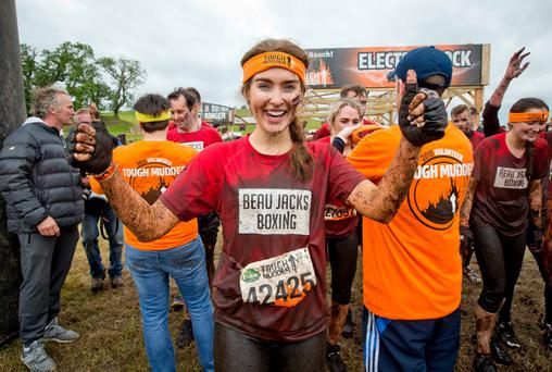 Roz Purcell after battling it through the gruelling obstacles at the Tough Mudder event which takes place over the weekend in Loughcrew Adventure Centre, Co. Meath
