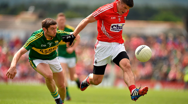 Cork silenced the doubters last Sunday as players like Barry O'Driscoll, above with Kerry's Killian Young, took the fight to their rivals.