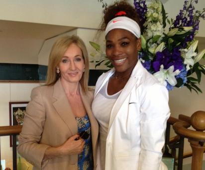 JK Rowling and Serena Williams. Picture: Twitter