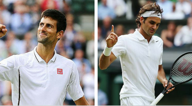 Novak Djokovic and Roger Federer are familiar foes