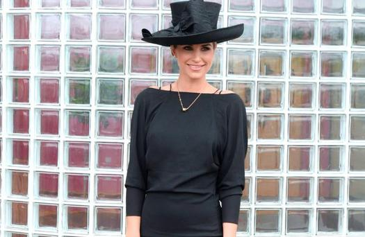 Vogue Williams at Dundalk Races