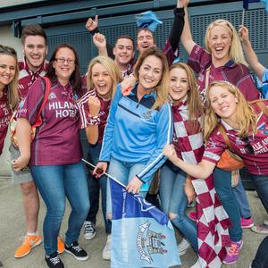 Sunday 12 July 2015. Croke Park. Leinster FInal, Dublin v Westmeath. Fans.