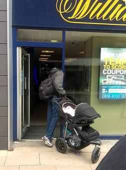Man approached a member of the public in Barton Arcade, Manchester, and offered to sell him the baby he was pushing in a pram.