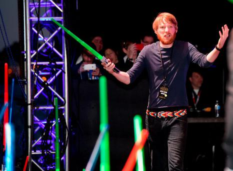 Actor Domhnall Gleeson and more than 6000 fans enjoyed a surprise