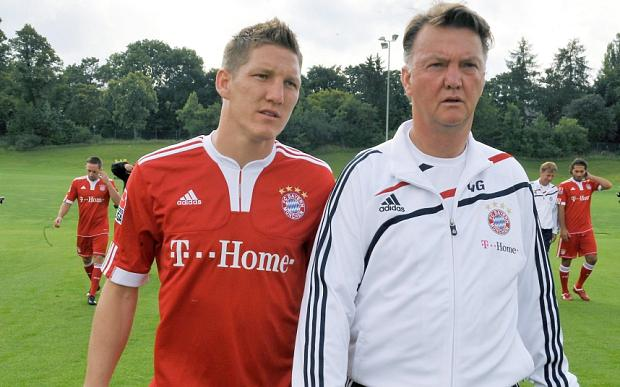 Louis van Gaal has landed his man Bastian Schweinsteiger