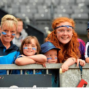 12 July 2015; Dublin supporters before the game. Leinster GAA Football Senior Championship Final, Westmeath v Dublin, Croke Park, Dublin. Picture credit: Cody Glenn / SPORTSFILE