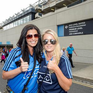 Sunday 12 July 2015. Croke Park. Leinster FInal, Dublin v Westmeath. Gillian Beirne (31) and Christina Kennedy (29), Palmerston.
