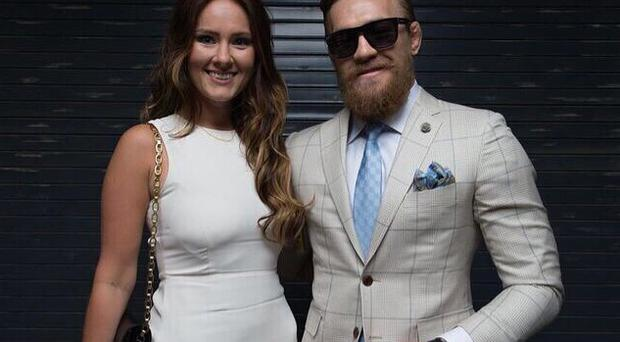 Conor McGregor and girlfriend Dee Devlin in Las Vegas. Picture: Instagram