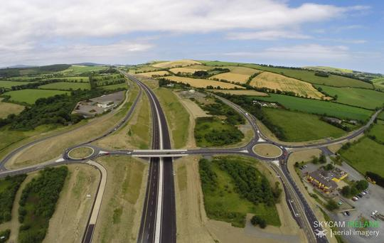 New stretch of dual carriageway between Arklow and Rathnew opens three months ahead of schedule. (Photo: Facebook/Skycam Ireland)