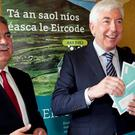 Liam Duggan, director of Eircode, Minister for Communications Alex White TD