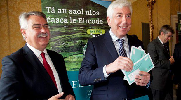 Pictured - Liam Duggan, director of Eircode, Minister for Communications Alex White TD at the launch of Eircodes