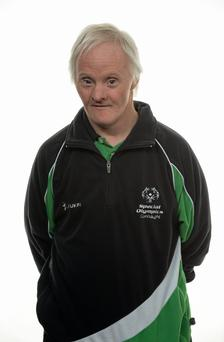 15 November 2014; Peter Malynn, Bocce, St Hilda's Work Therapy Unit. Special Olympics Ireland Squad and Portraits, Louis Fitzgerald Hotel, Dublin. Picture credit: Piaras O Midheach / SPORTSFILE *** NO REPRODUCTION FEE ***