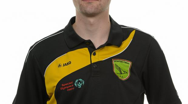 15 November 2014; Andrew Armitage, Football 11, Sporting Fingal. Special Olympics Ireland Squad and Portraits, Louis Fitzgerald Hotel, Dublin. Picture credit: Piaras O Midheach / SPORTSFILE *** NO REPRODUCTION FEE ***
