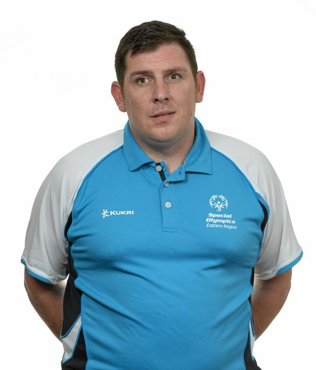15 November 2014; Laurence Keegan, Football 11, Sporting Fingal. Special Olympics Ireland Squad and Portraits, Louis Fitzgerald Hotel, Dublin. Picture credit: Piaras O Midheach / SPORTSFILE *** NO REPRODUCTION FEE ***