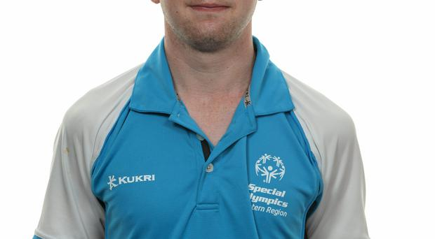15 November 2014; Thomas Caulfield, Football 11, Cheeverstown House. Special Olympics Ireland Squad and Portraits, Louis Fitzgerald Hotel, Dublin. Picture credit: Piaras O Midheach / SPORTSFILE *** NO REPRODUCTION FEE ***