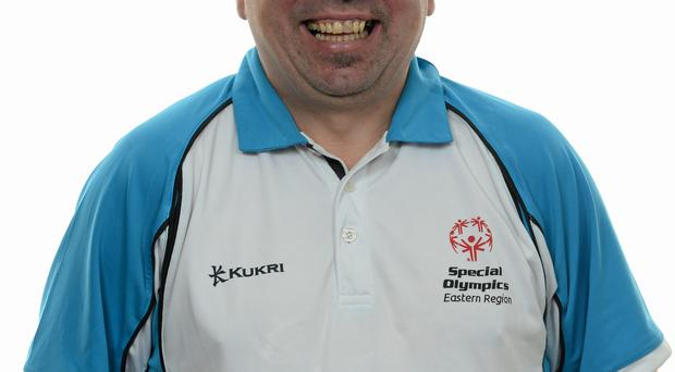 15 November 2014; Dean Gallagher, Bray, Football 5. Special Olympics Ireland Squad and Portraits, Louis Fitzgerald Hotel, Dublin. Picture credit: Piaras O Midheach / SPORTSFILE *** NO REPRODUCTION FEE ***