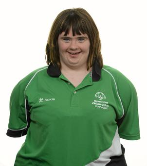 15 November 2014; Lorraine Hession, Aquatics, Team South Galway Special Olympics Club. Special Olympics Ireland Squad and Portraits, Louis Fitzgerald Hotel, Dublin. Picture credit: Piaras O Midheach / SPORTSFILE *** NO REPRODUCTION FEE ***